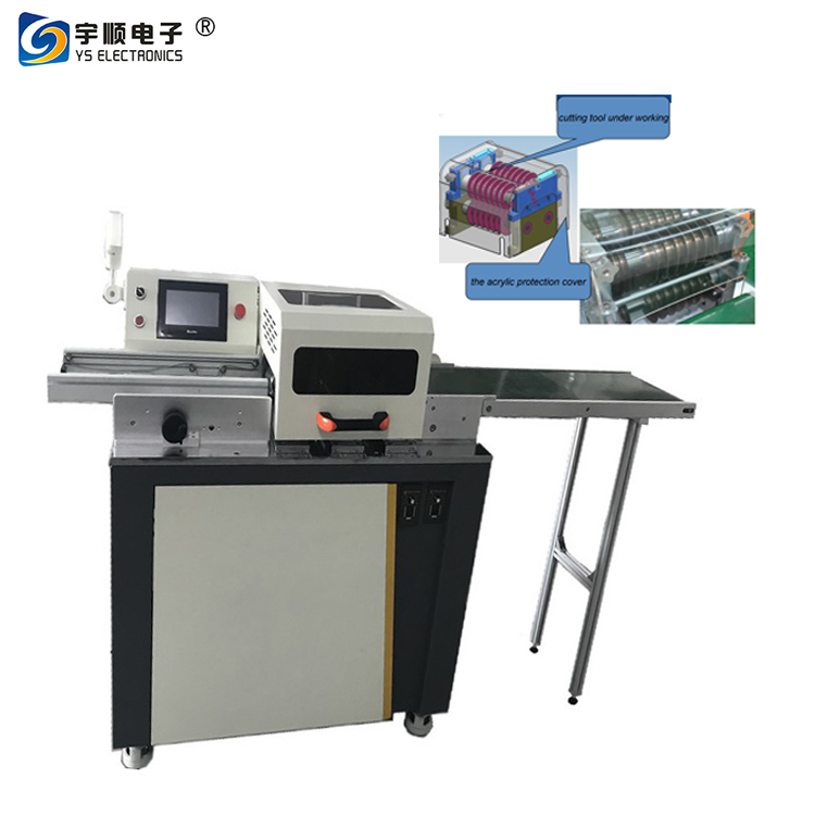 Multi blade Automatic PCB Separator / PCB Depaneling / LED PCB Cutter Machine YSVJ-650